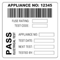 Image of Martindale BAR3 Combined Barcode & PASS PAT Test Labels