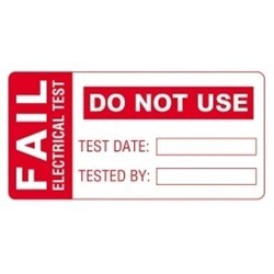 Image of Martindale FAIL 1 PAT Testing FAIL Labels