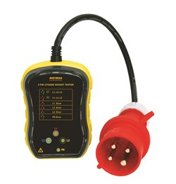 Image of Martindale PC104 3 Phase Industrial Socket Tester 16A