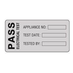 Image of Martindale POLY2 Pass PAT Test Labels
