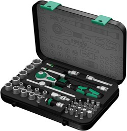 "Image of Wera 8100SA2 SOCKET SET 1/4"" DRIVE METRIC ZYKLOP 42PC"