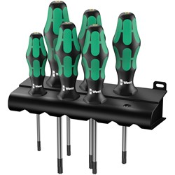 Image of Wera 367/6 S/DRIVER SET TORX KRAFTFORM PLUS 6PC