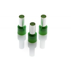 Image of CEF 1612G Green Cord End Ferrules - QTY 100