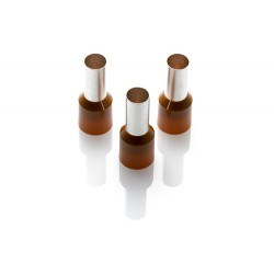 Image of CEF 25016G Brown Cord End Ferrules - QTY 100