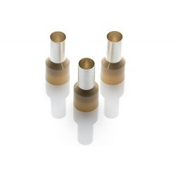 Image of CEF 35016G Beige Cord End Ferrules - QTY 100
