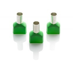 Image of TCEF 1614G Green Cord End Ferrules - QTY 100