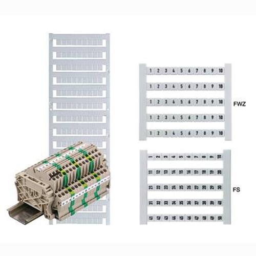 Weidmuller Pre Printed Terminal Markers Dek 5 Fwz 1 10