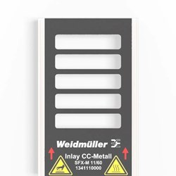 Image of Weidmuller SFX-M 11/60 AL- Metal Cable Marker - Custom Marked - QTY 1 Marker