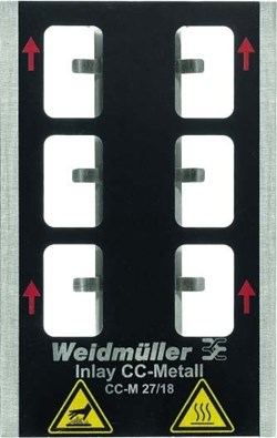 Image of Weidmuller - Metallicards - INLAY CC-M 27/18 - QTY 1