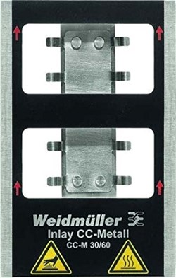 Image of Weidmuller - Metallicards - INLAY CC-M 30/60 - QTY 1