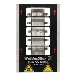 Image of Weidmuller - Metallicards - INLAY CC-M 15/45 - QTY 1