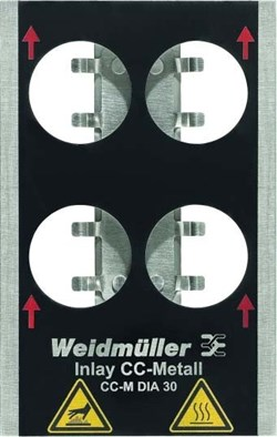 Image of Weidmuller - Metallicards - INLAY CC-M DIA 30 - QTY 1