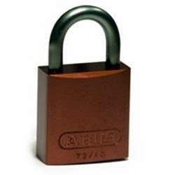 Image of Brady Full Alu Padlocks 25mm Shackle KD Brown/6