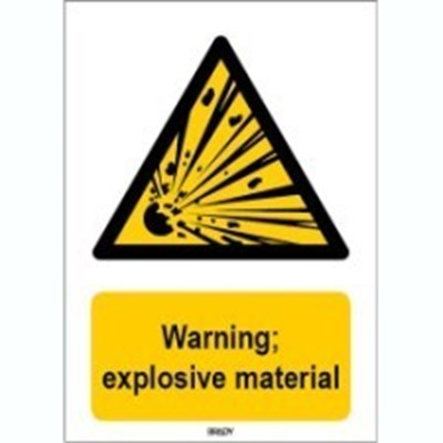 Image of 816737 - ISO 7010 Sign - Warning; explosive material