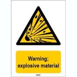 Image of 816720 - ISO 7010 Sign - Warning; explosive material