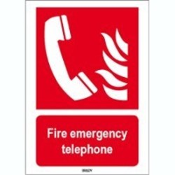 Image of 817917 - ISO 7010 Sign - Fire emergency telephone
