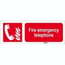 Image of 817912 - ISO 7010 Sign - Fire emergency telephone