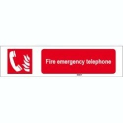 Image of 817913 - ISO 7010 Sign - Fire emergency telephone