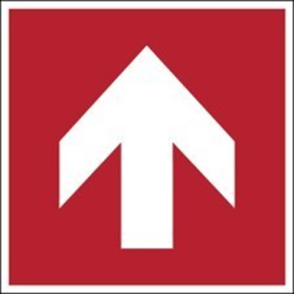 830793 Iso Safety Sign Direction Arrow 90 Increments Fire