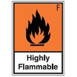 Image of 256474 - Hazardous Substances Identification - STE 588 - Highly Flammable