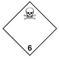 Image of 258968 - Transport Sign - ADR 6.1 - Toxic substance