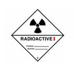 Image of 811663 - Transport Sign - ADR 7A - Radioactive 7A I