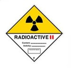 Image of 811668 - Transport Sign - ADR 7B - Radioactive 7B II