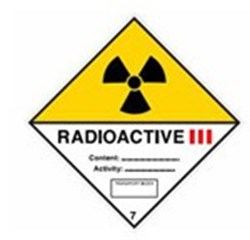 Image of 811673 - Transport Sign - ADR 7C - Radioactive 7C III