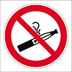 Image of 138480 - Prohibition Sign - No smoking electronic cigarettes