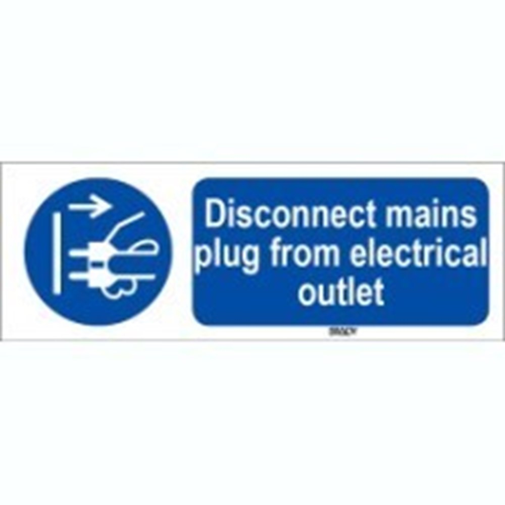 818792 Iso 7010 Sign Disconnect Mains Plug From Electrical