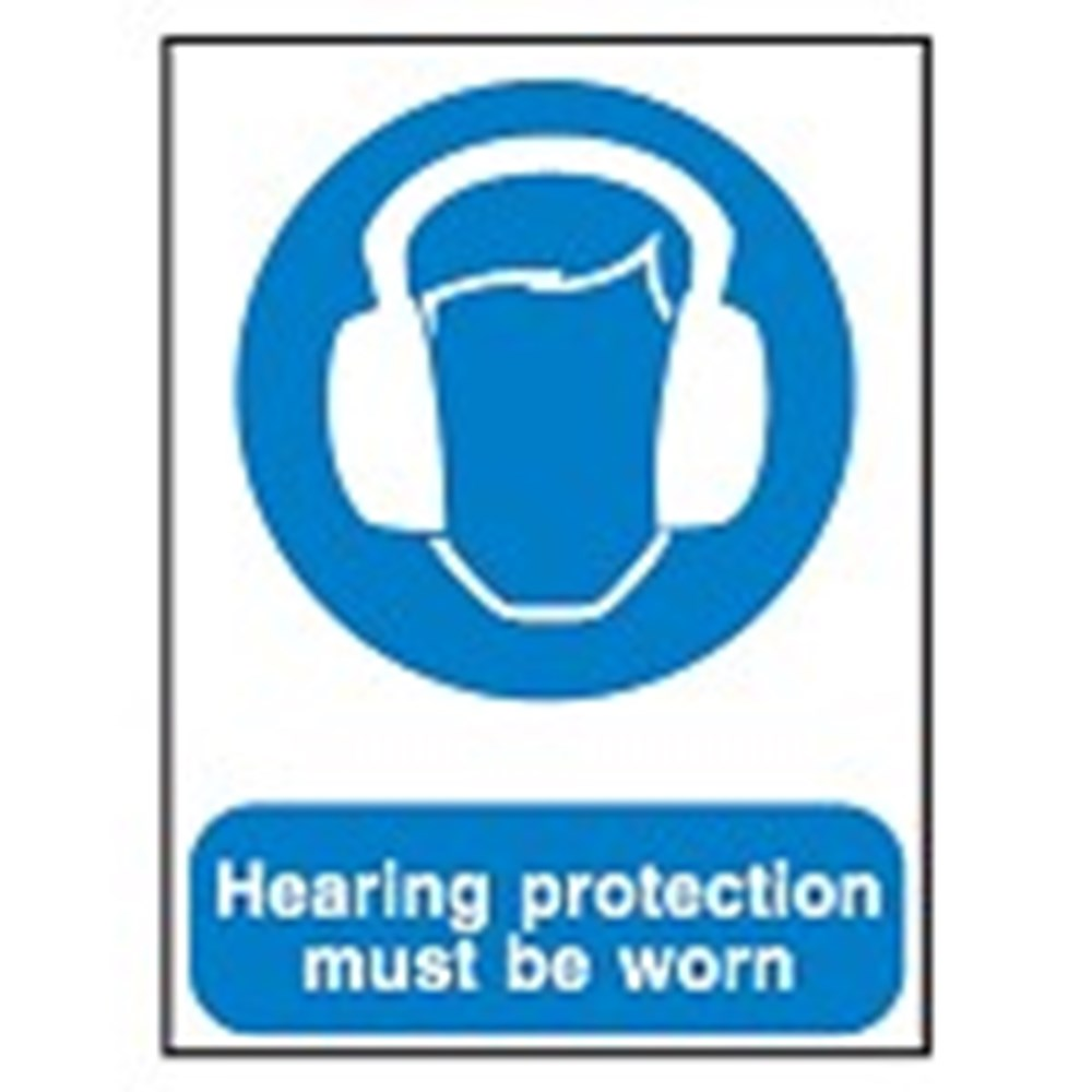 701539 Mandatory Safety Sign Hearing Protection Must Be Worn