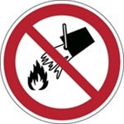 Image of 823197 - ISO Safety Sign - Do not extinguish with water