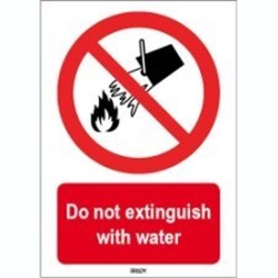 Image of 823252 - ISO 7010 Sign - Do not extinguish with water