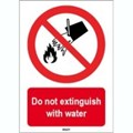 Image of 823259 - ISO 7010 Sign - Do not extinguish with water