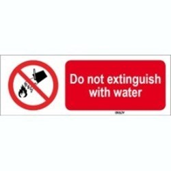 Image of 823250 - ISO 7010 Sign - Do not extinguish with water