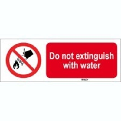 Image of 823263 - ISO 7010 Sign - Do not extinguish with water