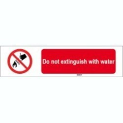 Image of 823255 - ISO 7010 Sign - Do not extinguish with water