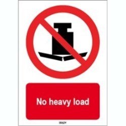 Image of 823400 - ISO 7010 Sign - No heavy load
