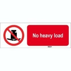Image of 823405 - ISO 7010 Sign - No heavy load