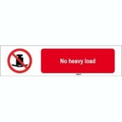 Image of 823396 - ISO 7010 Sign - No heavy load