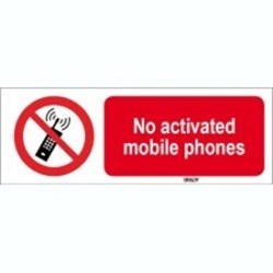 Image of 823548 - ISO 7010 Sign - No activated mobile phones