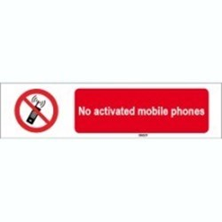 Image of 823553 - ISO 7010 Sign - No activated mobile phones