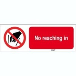 Image of 823846 - ISO 7010 Sign - No reaching in