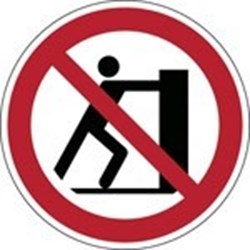 Image of 823929 - ISO Safety Sign - No pushing