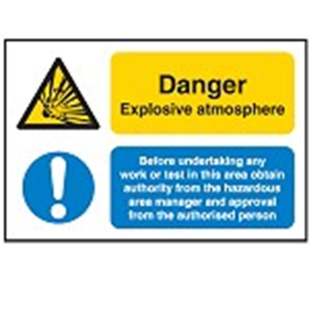 Hazard Warning Sign - Multi-Message - Explosive atmosphere