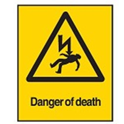 Image of 701796 - Hazard Warning Sign - Danger of death
