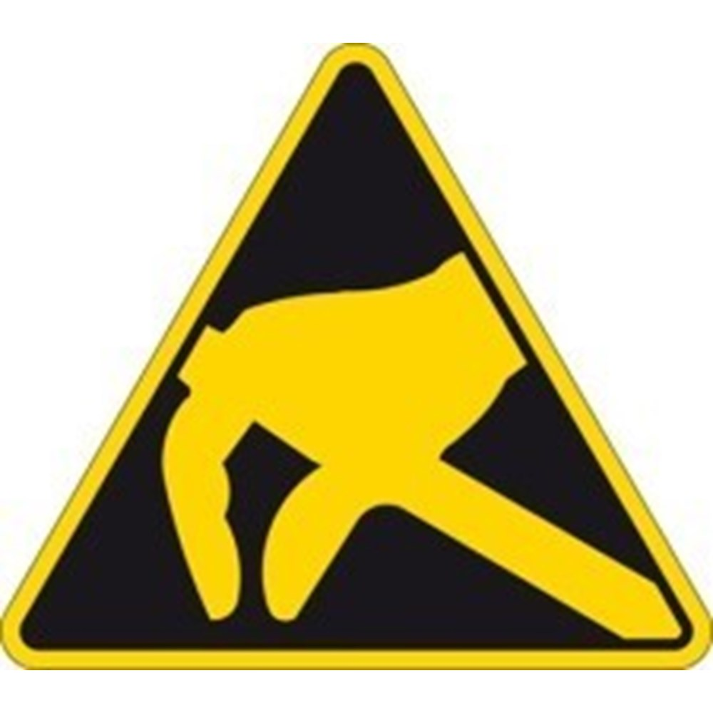 250630 Caution Electrostatic Danger Symbol Only No Text