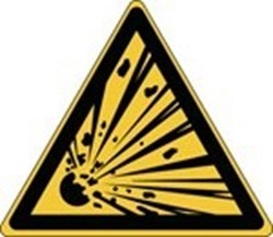 Image of 816669 - ISO Safety Sign - Warning; explosive material