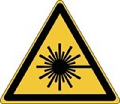 Image of 836139 - Glow-in-the-dark safety sign