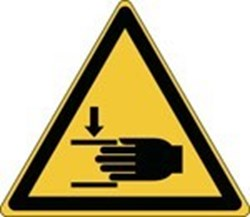 Image of 836231 - Glow-in-the-dark safety sign